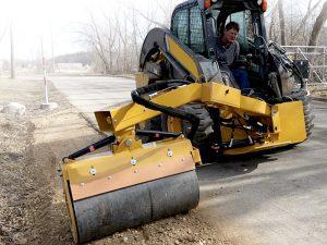 Road Widener Offset Vibratory Roller